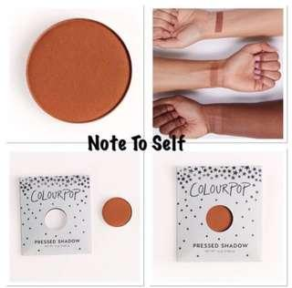 Authentic Colourpop Note to Self Matte Pressed Powder Shadow