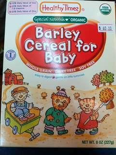 Healthy Times Organic Barley Cereal for Baby Stage 1 嬰兒有機糊仔