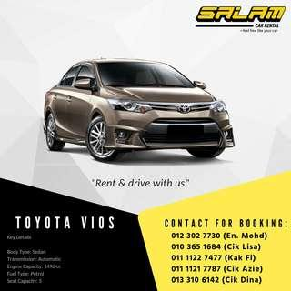 TOYOTA VIOS & HONDA CITY FOR RENT!!