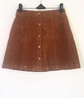 Tan Nude Button Up Skirt