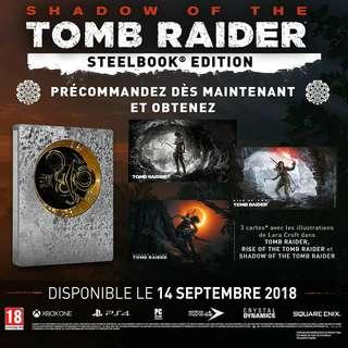 Brand New Steel Book R3 PS4 Shadow of Tomb Raider