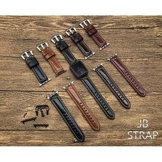 (門市設有錶帶專櫃) Apple Watch 錶帶 頭層牛皮光面錶帶 蘋果手錶錶帶 Applewatch錶帶 Apple watch 錶帶 真皮錶帶 蘋果手錶錶帶 38mm/42mm Apple Watch full-grain leather Strap (1)