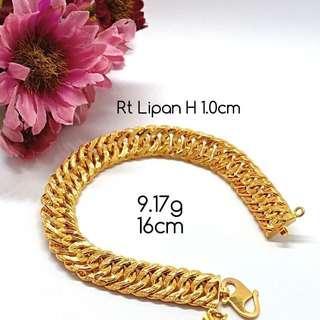 Rantai Tangan gold 916