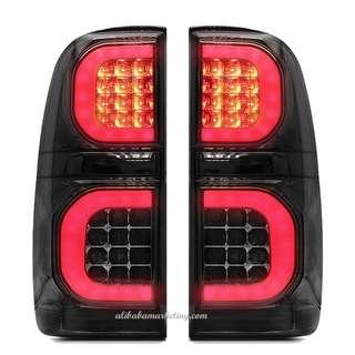 BLACK SMOKE LED TAIL LIGHT LAMP REAR FIT FOR TOYOTA HILUX VIGO CHAMP