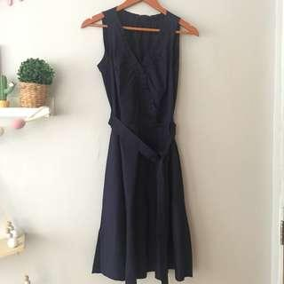 Mango navy dress