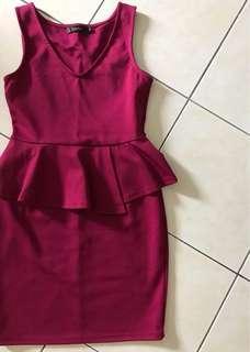 FREE POSTAGE Nichii Peplum Dress Padini Kitschen Zara