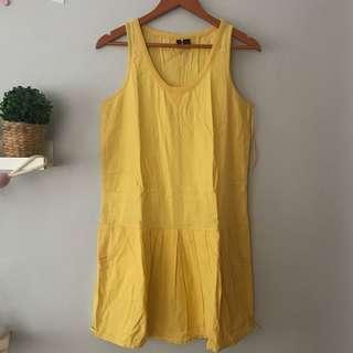 Mango yellow dress