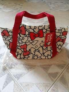 Hello Kitty Canvas Tote / Lunch Bag