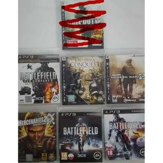 PS3 MOST WANTED WAR GAMES
