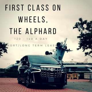 Mpv Toyota Alphard vellfire rental