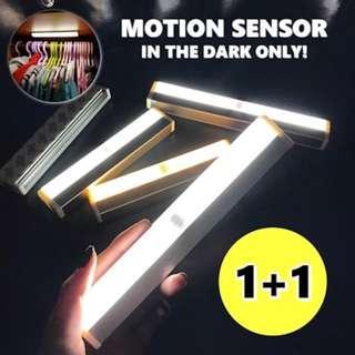 (1+1) LED Motion Sensor Light Triple A Batteries Operated