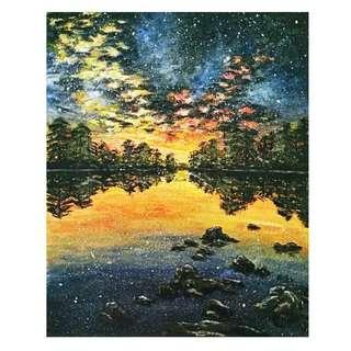 <Sunset/Sunrise>Arcylic Painting