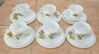 pyrex autumn glory tea set