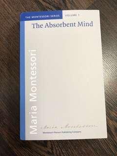 New The Absorbent Mind Maria Montessori book