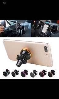 Universal Air Vent Magnetic Mobile Phone Holder Magnet Car Phone Holder Aluminum Silicone Mount Holder Stand For All Phone