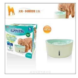 日本 GEX 視窗型 犬用循環式淨水/飲水機 2.5L