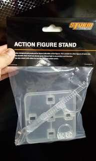 DYNAMIC ACTION FIGURE STAND COME WITH 2XCLIP FOR 1:12 SCALE FIGURE (PACK OF 1 PCS) GREAT FOR STORM & MEZCO 1:12 FIGURE STAND OR FLYING POST
