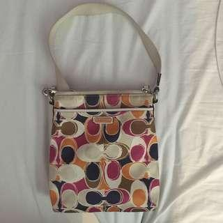👜COACH vibrant multicolour messenger bag
