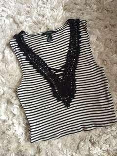 Forever 21 sleeveless stripe