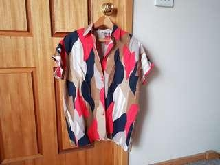 Multi Coloured Button Up Shirt