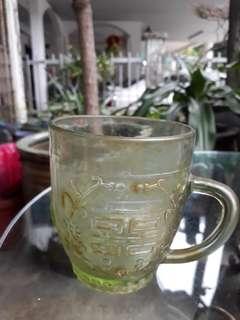Vintage glass mug(chinese)