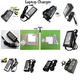 New OEM Charger Adapter For Laptop / Notebook / Netbook / Macbook Air / Pro Full Set (Acer Asus Compaq Dell Fujitsu Hp Lenovo Samsung Sony Toshiba) Ready Stock