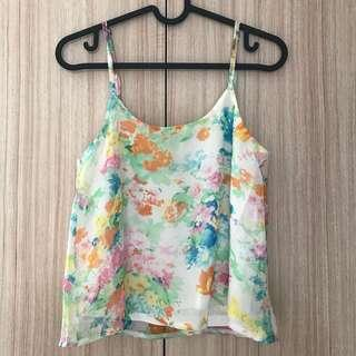 THE TINSEL RACK Floral Spag TOP