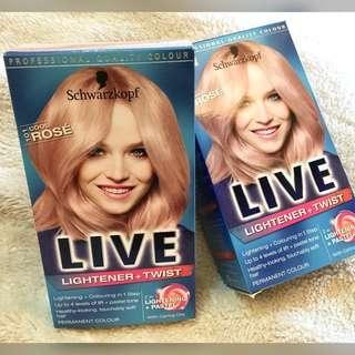 2 Kits Schwarzkopf LIVE Lightener+Twist in Cool Rose 101