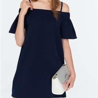 the Closet Lover Luella Off-Shoulder Dress in Navy #Under90