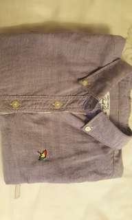 淺紫色,牛津襯衫
