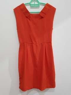 Mini dress orange polos