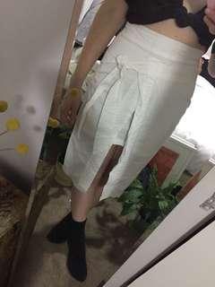 White tie skirt