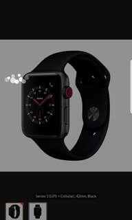 Iwatch series 3 42mm GPS+Cellular