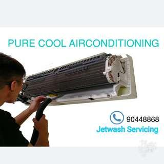 [PURE COOL Sale] Aircon servicing - Jetwashing Chemical Servicing
