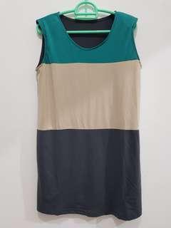 Mini dress Tricolor