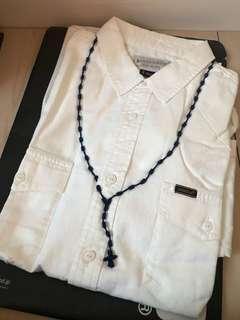 全新經典款 Neighborhood 刺繡項鍊 白襯衫 日本製