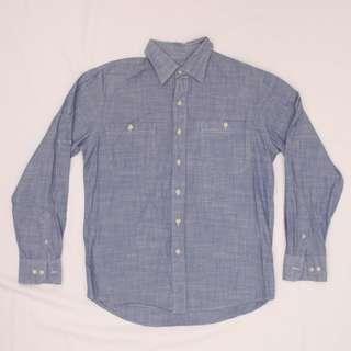 IZOD Men's Polo / Button-up Long Sleeve Shirt (blue)