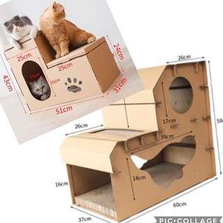 (New!) cat scratch corrugated cardboard house bed