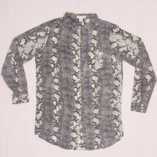 COTTON ON Snake-print Button-up blouse (gray)