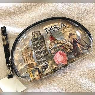 (Italy) Pisa Souvenir Printed Vinyl Wristlet Case