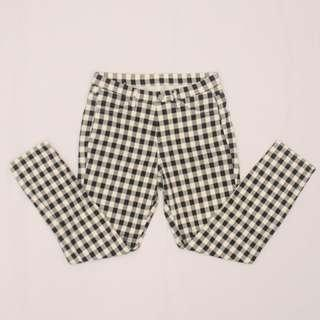 UNIQLO Cropped Checkered Jeggings (black and white)