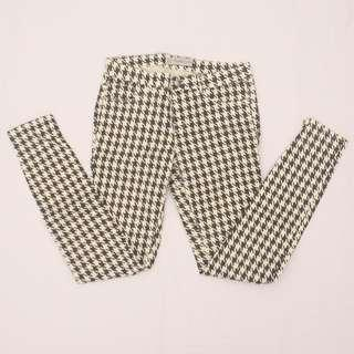 ZARA TRAFALUC Houndstooth printed jeans (black and white)
