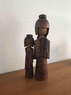 Cute wooden doll