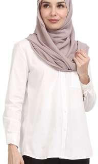 Poplook Tatum Utility Shirt Ladies - White