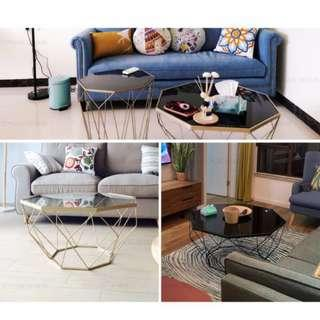 New Design Geometric Glass Coffee Table  Australia Quality