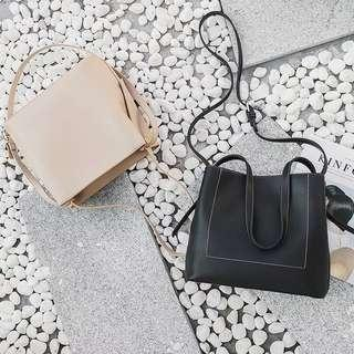 PU Leather 2 Ways HandBag