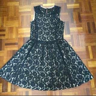 Emanuelle Black Lace Dress