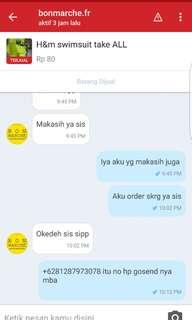 Thanks my customer
