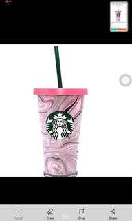 Starbucks Pink Valentine's Cold Cup