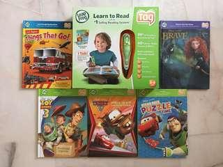 LeapFrog Tag Reading System Talking Pen with 5 Books